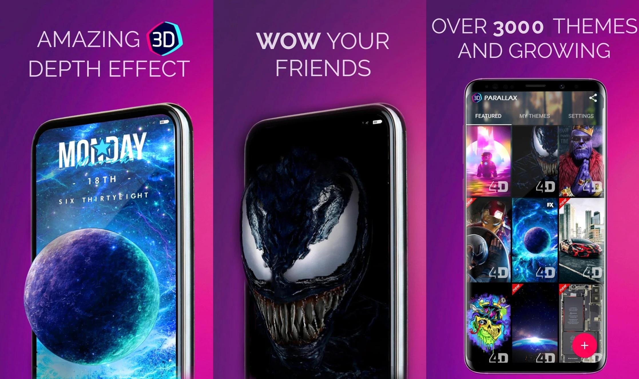 Descarga mejores Wallpapers Live en Android con 4D Parallax Wallpaper