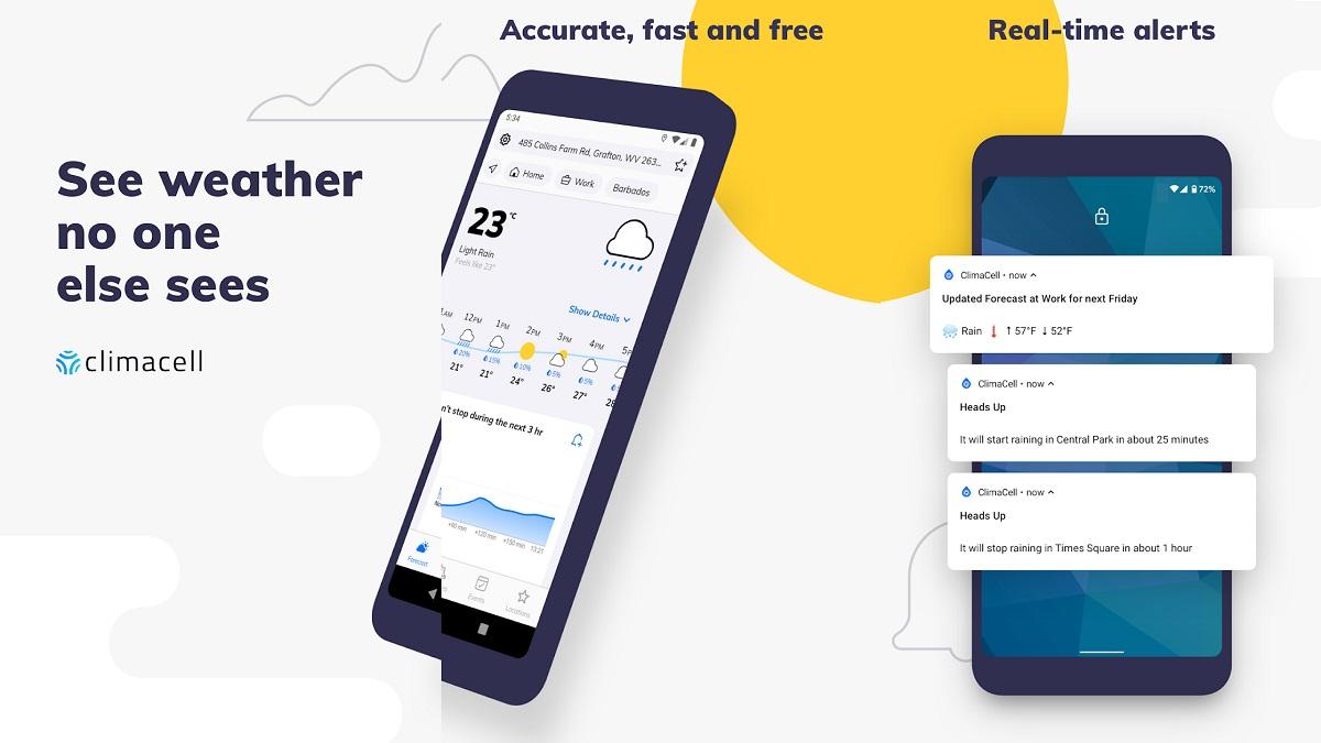 Descarga Mejor Aplicación de Clima para Android con Clima Cell