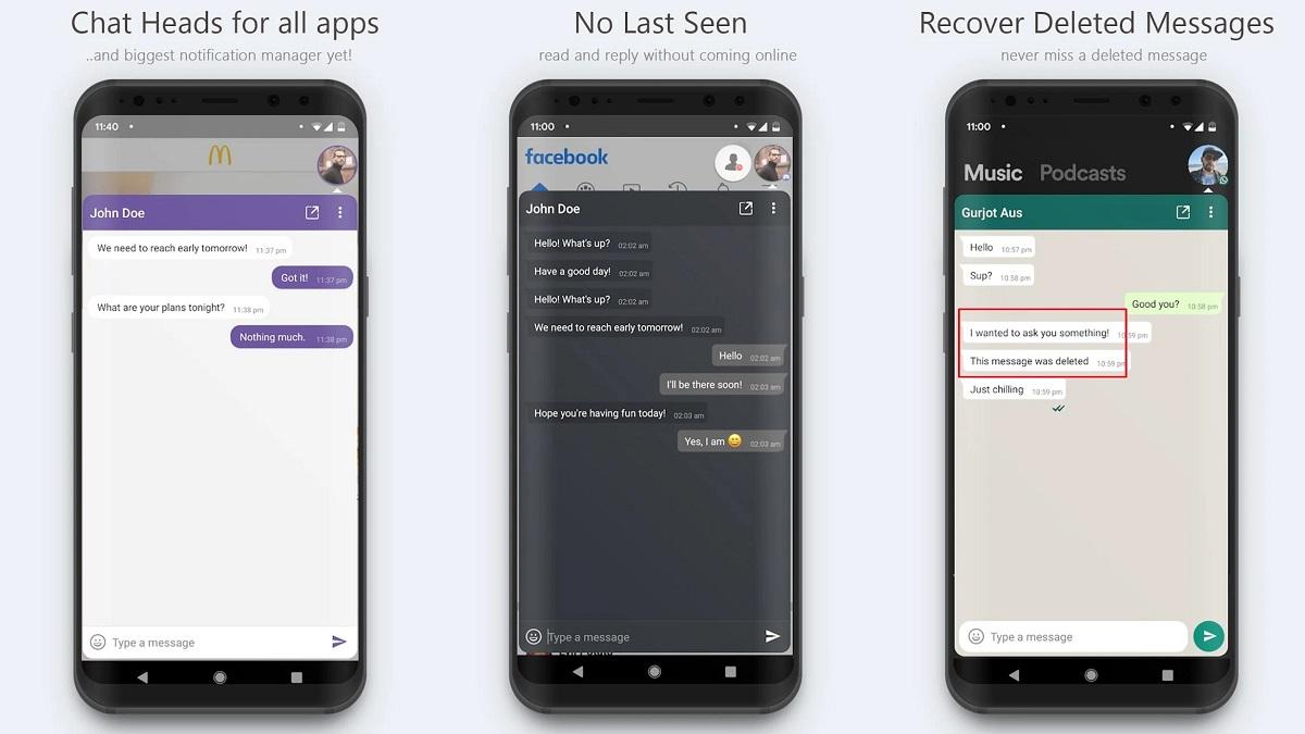 Como Tener Burbujas Flotantes en Android con Direct Chat