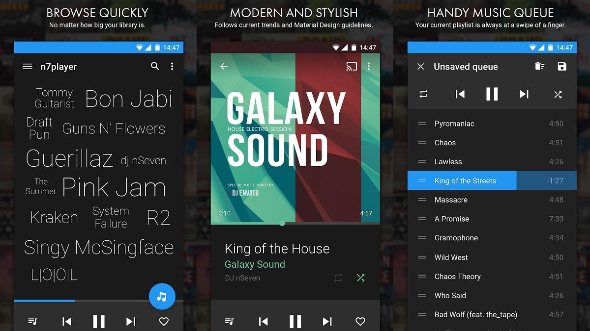 Descarga Reproductor de Música Android N7 Player