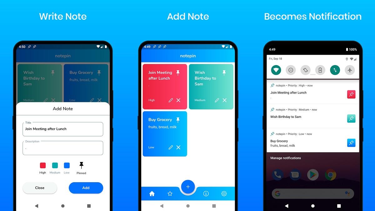 Como Anclar Notes en Notificaciones en Android con NotePin