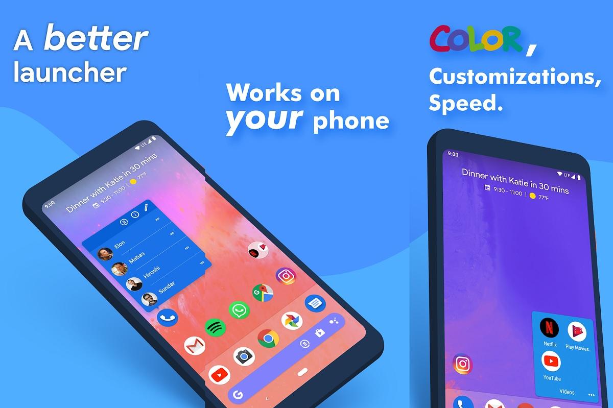 Descarga Mejor Launcher Android con Action Launcher