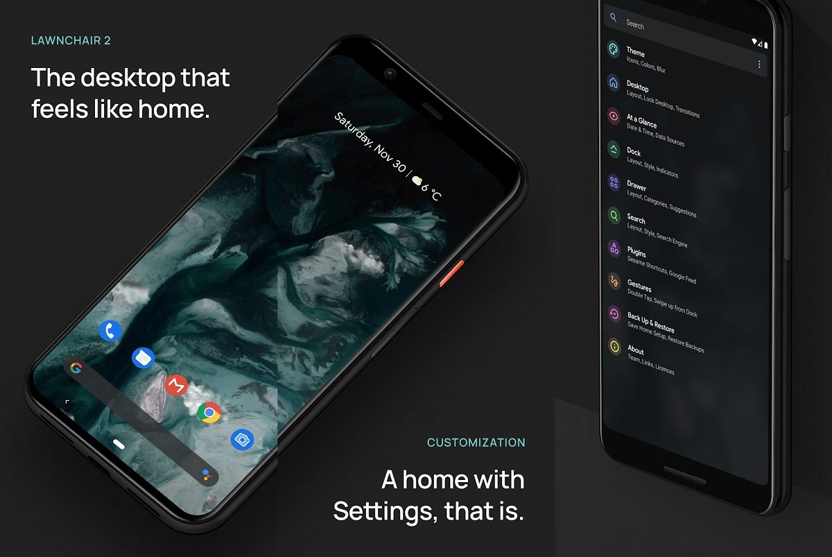 Descarga Mejor Launcher Android con Lawnchair